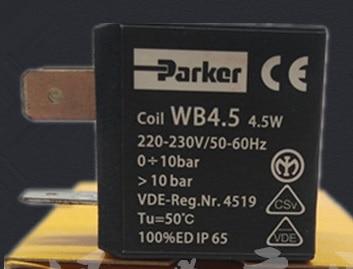 American Parker solenoid valve coil WB4.5 4.5KW 220V phs520d 02 110v d new parker solenoid valve 1 0 9 bar 0 1 0 9mpa