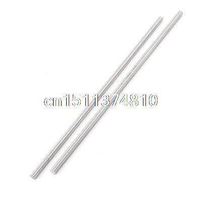2 Pcs 5mm x 200mm HSS Grooving Tool Round Turning Lathe Bars Silver Gray zcc ct toolbar crdnn2020k12 c type clamping tool holders external grooving turning lathe bar tool holder for lathe machine