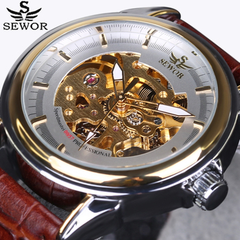 New SEWOR Watches Luxury Brand Men's Fashion Automatic Hollow Out Man Mechanical Watch sports clock Waches relogio masculino
