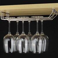 1-3 fileira champanhe vinho stemware titular copo de vidro aço inoxidável rack de armazenamento barra armário de exibição prateleira cabide dreno