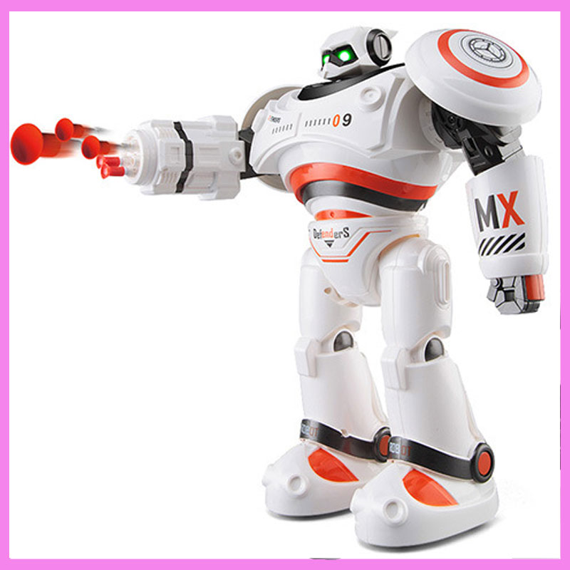 Intelligent Remote Control RC Fire Fighting Robot Boys Toy Defendor Wisdom Flash Charge Singing Dancing Robot Toys Gift Box lz333 4 5ch intelligent electric robot remote control rc dancing robot