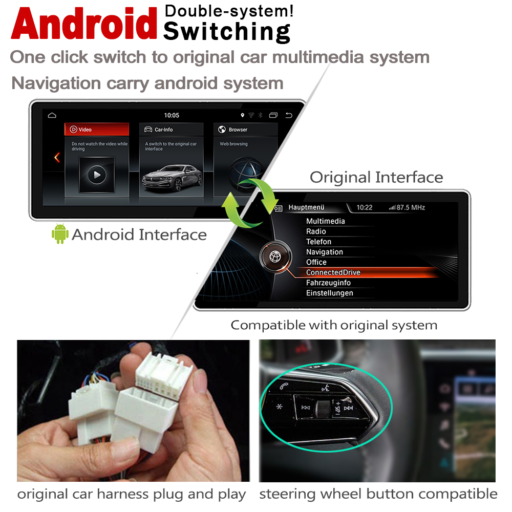 Perfect 2G+16G Android 7.0 up Car radio GPS multimedia player For BMW X1 F48 2015~2019 Navigation WiFi BT Radio Media 5
