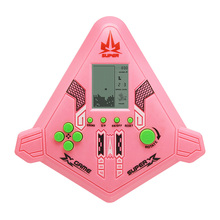 Intelligence Electronic Toy Airplane Style Game Handheld Tetris Games Console for Children Kids Console Christmas Gift
