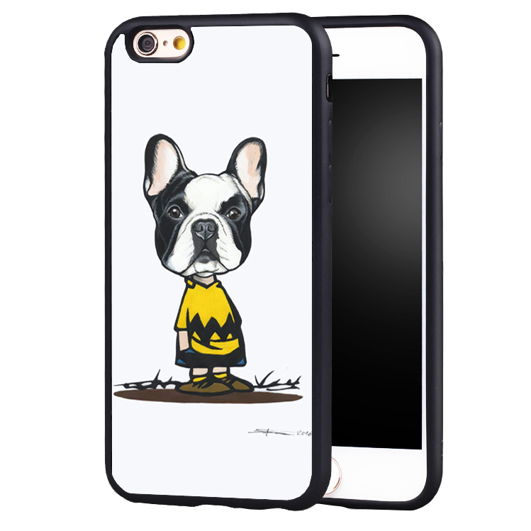 Masked Frenchie French Bulldog Puppy design Soft Silicone Protective case Cover For iPhone X 8 7 7Plus 6 6S Plus 5 5S SE