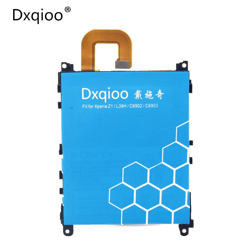 Dxqioo brand mobile phone batteries fit for sony xperia Z1 l39h c6902 c6903 c6943 LIS1525ERPCS AGPB011-A001