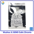 (1000 pçs/lote) AAAAA Grau de Qualidade Rodada Branco 0.8mm a 3.0mm Cubic Zirconia Pedra/CZ Pedra Solta/Gemas Sintéticas para a Jóia