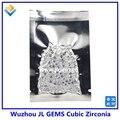 (1000 unids/lote) AAAAA Grado de Calidad Redondo Blanco 0.8mm a 3.0mm de Piedra Zirconia Cúbico/CZ Piedra Suelta/Gemas Sintéticas para La Joyería
