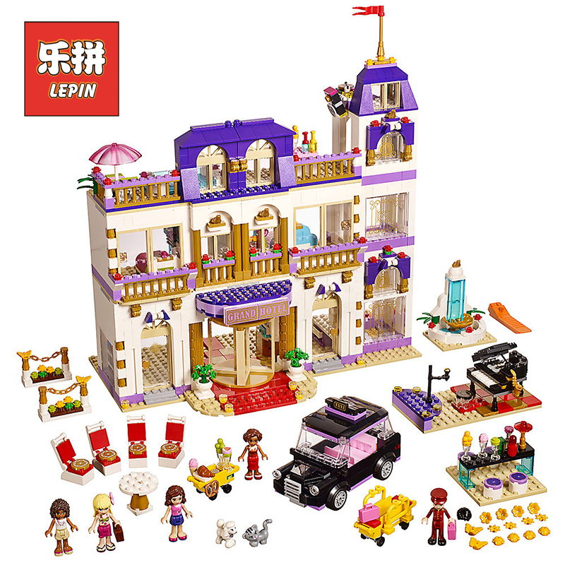 Lepin New Girl Club 01045 the Heartlake Grand Hotel Set 41101 Compatible Legoings Friends Building Blocks Bricks Kids Toys чепурин н наследие бога войны книга 1 океан ветров