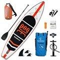 Надувная подставка весло доска Sup-доска для серфинга каяк серфинга набор для серфинга 11'x33''x6'' с рюкзаком, поводком, насосом, водонепроницаем...