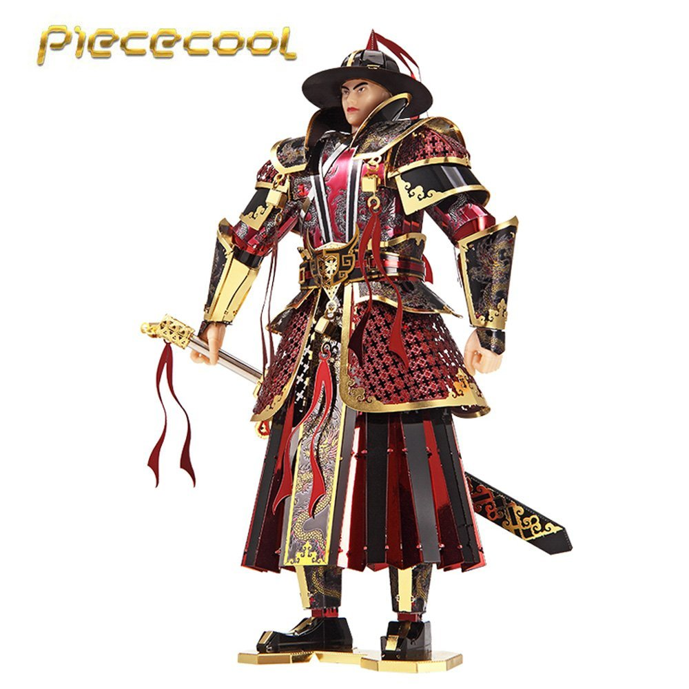2017 Piececool 3D Metal Puzzle The Imperial Guards Of Ming Dynasty Model Kits P090 RKG DIY