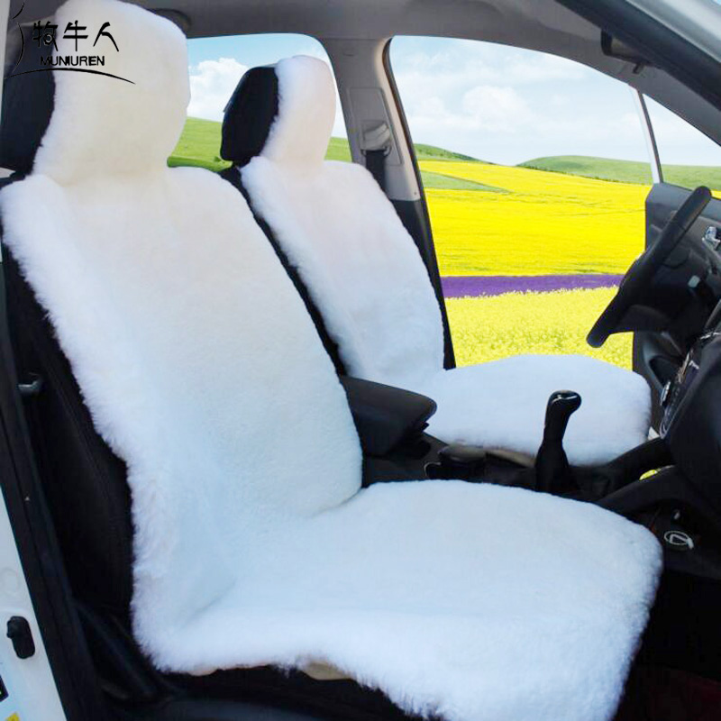 MUNIUREN Top Quality Faux Fur Car Seat Covers Hairy Interior Accessories Cushion Cover Styling Winter Plush Pad In Automobiles