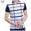 New Hot 2016 summer dress shirt  men fashion trend leisure plaid lapel men's short-sleeved Korean short-sleeved men