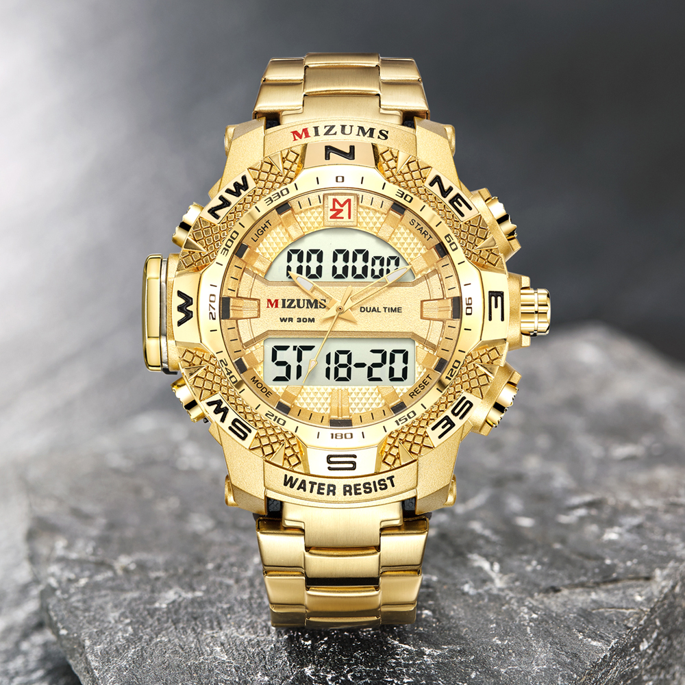 wholesale Military Watches Men Luxury Brand Full Steel Watch Sports Quartz Multi-function LED Waterpoof Gold Wristwatch Relogio Masculino 2019 drop shipping (14)
