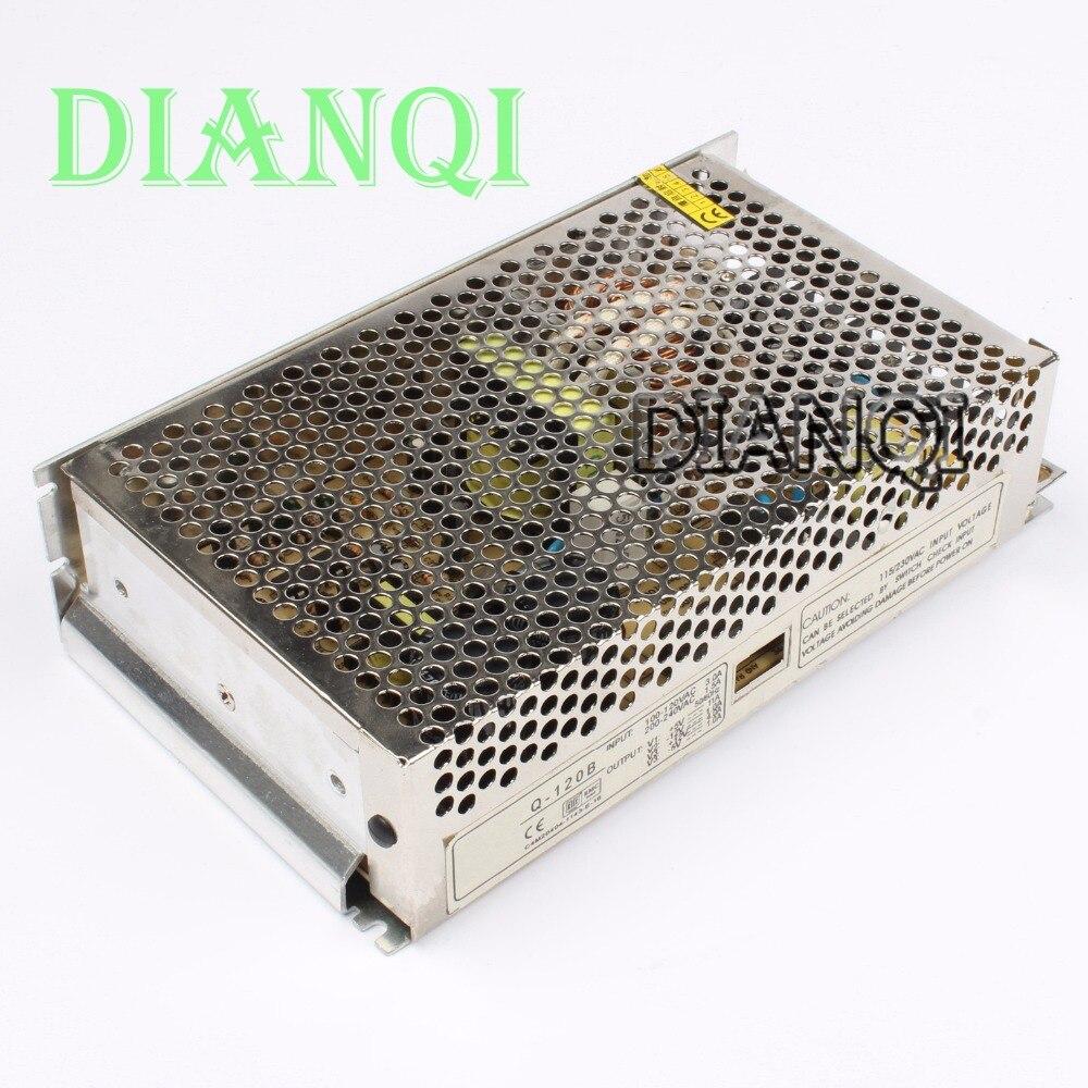 DIANQI quad output power supply 120W 5V 12V -5V -12V  suply Q-120B  ac dc converter good quality 1pcs 60w 12v 5a power supply ac to dc power suply 12v 60w power supply 100 240vac 111 78 36mm