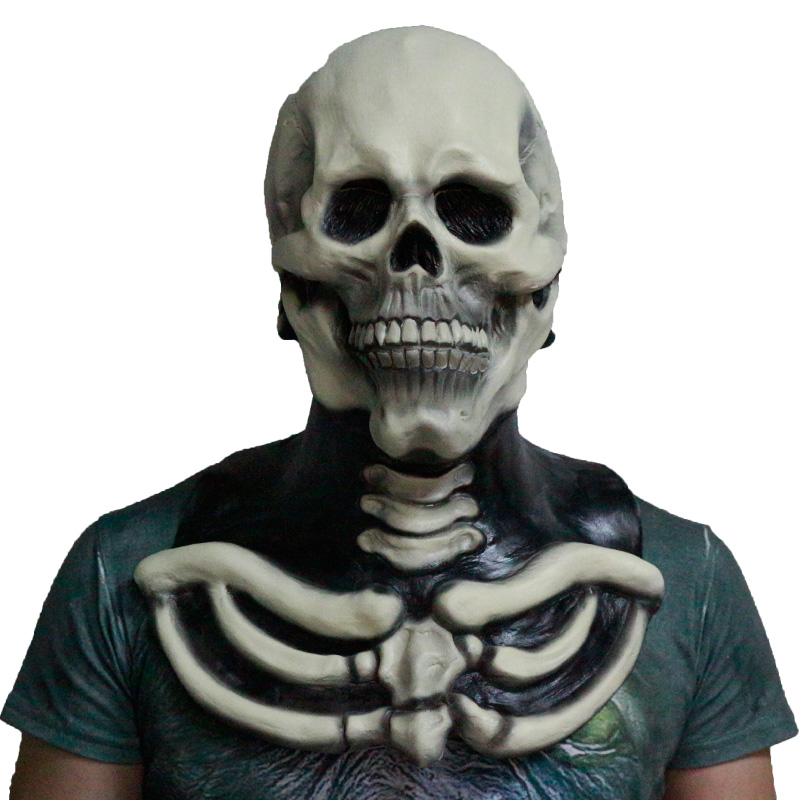 2018 Realistic Top Sales Vivid Skull Skeleton Horror Masks Latex For Halloween Party Decoration Props