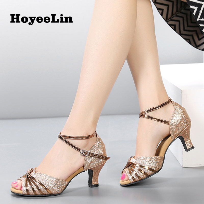 HoYeeLin Women Ladies Open Toe Latin Dance Shoes Indoor Ballroom Party Tango Salsa Shoes Dancing Performance HeelsHoYeeLin Women Ladies Open Toe Latin Dance Shoes Indoor Ballroom Party Tango Salsa Shoes Dancing Performance Heels