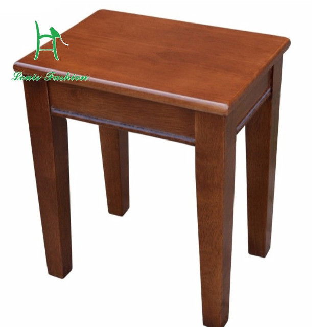 Solid Wood Square Stool Household Table Stool Adult Thickening Reinforce  The Bench High Low Stool Small