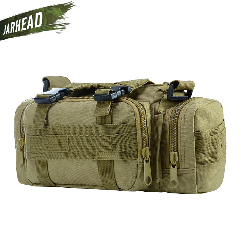 3L Tactical Bag Sport Bags 600D Waterproof Oxford Military Waist Pack Molle Outdoor Pouch Bag Durable Backpack Camping Hiking