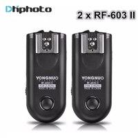 2015 Shutter Release Yongnuo RF 603 II Flash Trigger 2 Transceivers Set For Canon Nikon Pentax