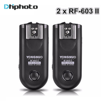 2015 Shutter Release Yongnuo RF 603 II Flash Trigger 2 Transceivers Set For Canon Nikon Pentax