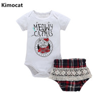 2018 New 2Pcs Lot Newborn Infant Baby Girls Clothing Sets Cotton Flower Print Summer Romper Shorts