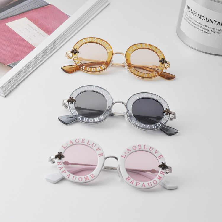 f50f8d644a Child 2019 NEW designer Kids Round Frame Sunglasses Children Glasses UV400  Baby Summer Eyeglasses Vintage Cute