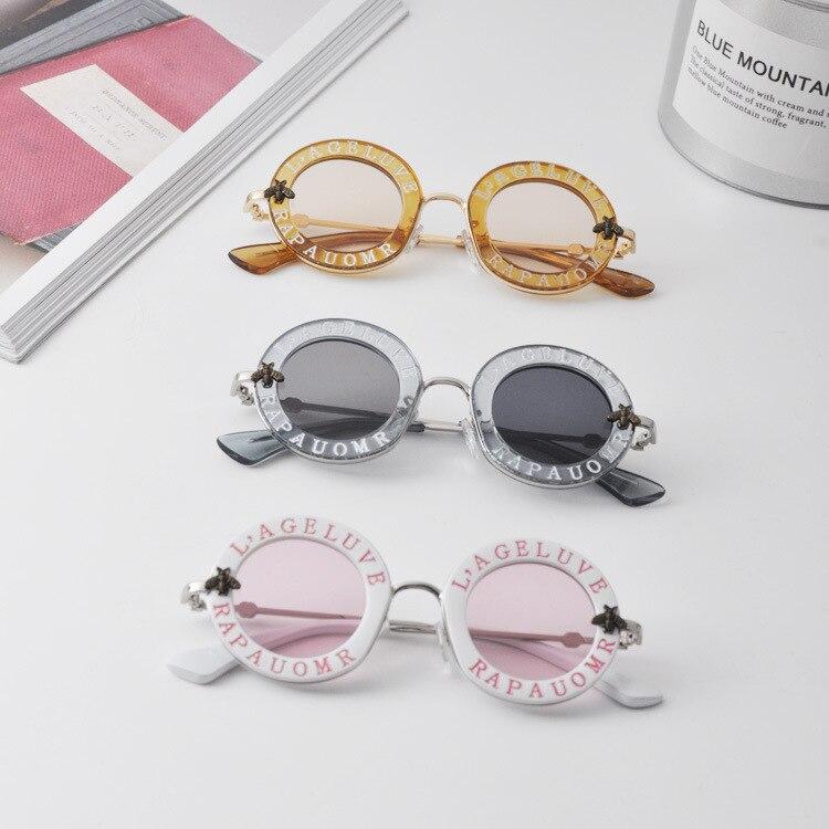 Ребенок 2018 Новый конструктор для детей Круглые Солнцезащитные очки детские очки UV400 детские летние очки милые винтажные девушка очки N297 ...