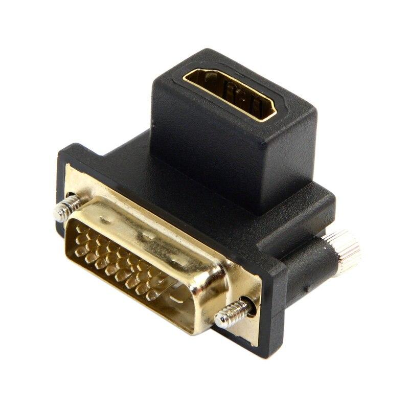 90 graden HDMI Female naar DVI Male adapter - Computer kabels en connectoren - Foto 1