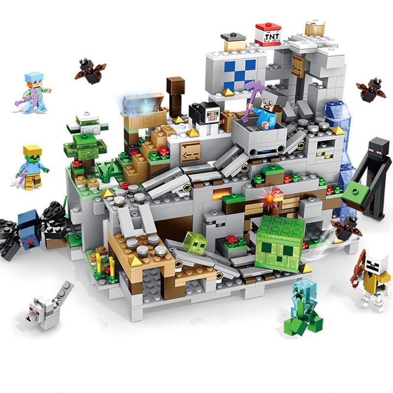 1000pcs kinderen bouwstenen speelgoed Compatibel Legoingly stad minecrafted Institutionele cave cijfers Bricks verjaardagscadeau-in Blokken van Speelgoed & Hobbies op  Groep 1