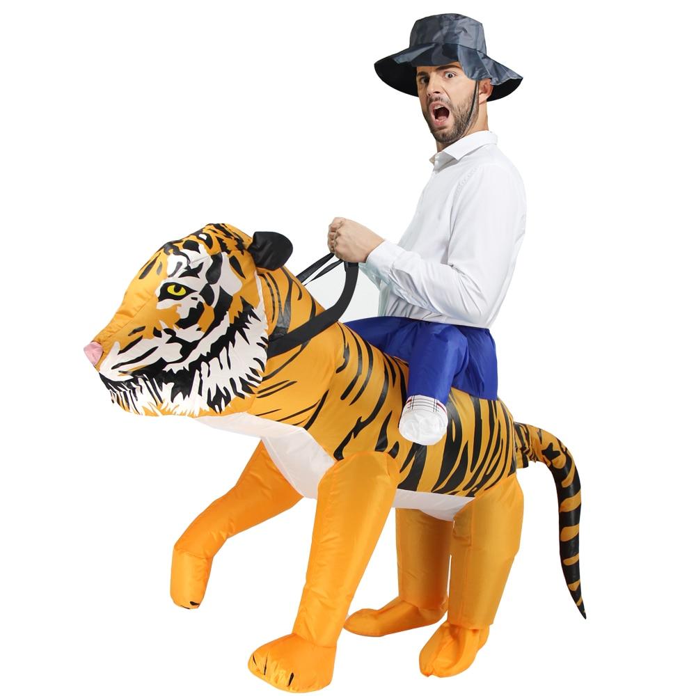Карнавальный костюм льва костюм тигра для рождественвечерние вечеринки  Взрослый мужской женский надувной костюм нарядное платье купить на  AliExpress 5b53cad187dc3