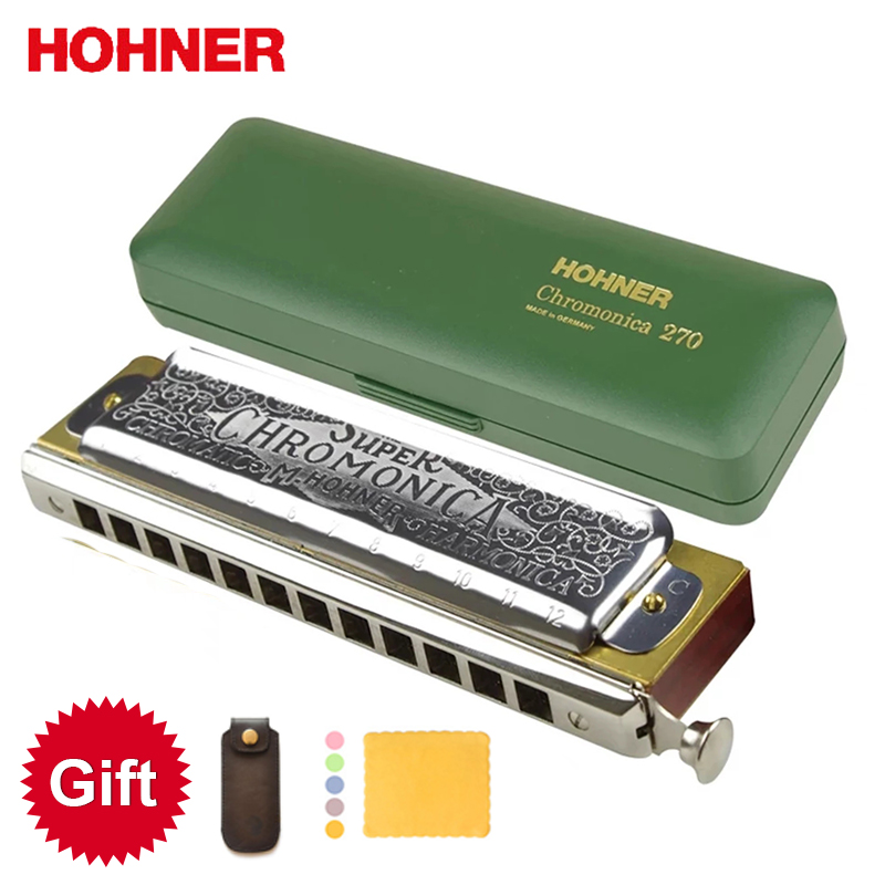 Hohner 270 Chromatic Harmonica Super Chromonica 12 Holes Harp Mouth Organ Key of C Musical Instruments