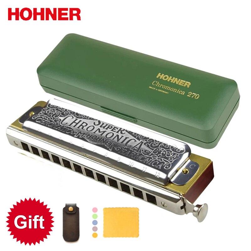 Hohner 270 Harmonica Chromatique Super Chromonica 12 Trous Harpe Orgue à Bouche Clé de C Instruments de Musique Poirier Peigne En Laiton Roseaux