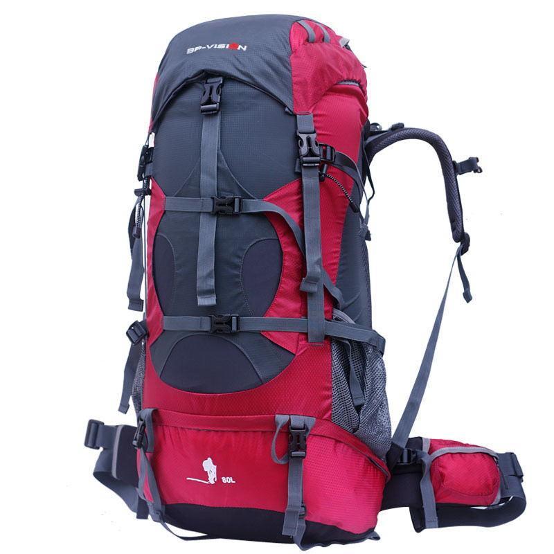 Large-capacity mountaineering bag 80L double shoulder outdoor sports bag hiking camping backpack outdoor 50l sports bag large capacity men travel bag mountaineering backpack hiking camping waterproof bag