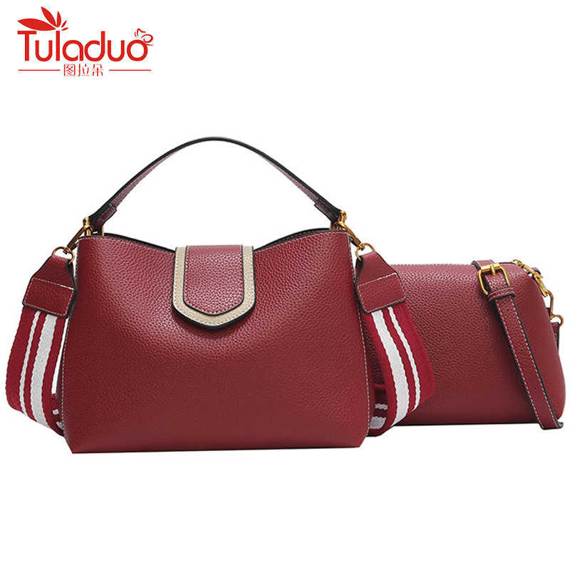 Fashion Bucket Bag With Wide Strap For Women Luxury Handbags Women Bags Designer Brand Famous Shouder Bag Casual Totes Handbag new genuine leather women bag messenger bags casual shoulder bags famous brand fashion designer handbag bucket women totes 2017