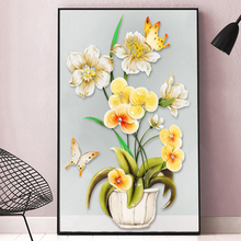 Youran New 5d Diamond Painting Full Square / Round Drill Flower and Butterfly Home Decoration Picture Artwork Resin Cross Stitch