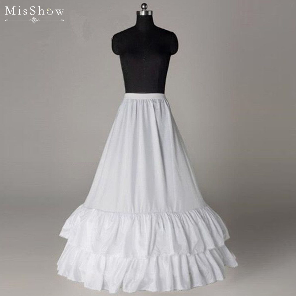 MisShow 2019 White Ruffle A Line Wedding Petticoats Jupon Mariage Wedding Accessories Crinoline Petticoat