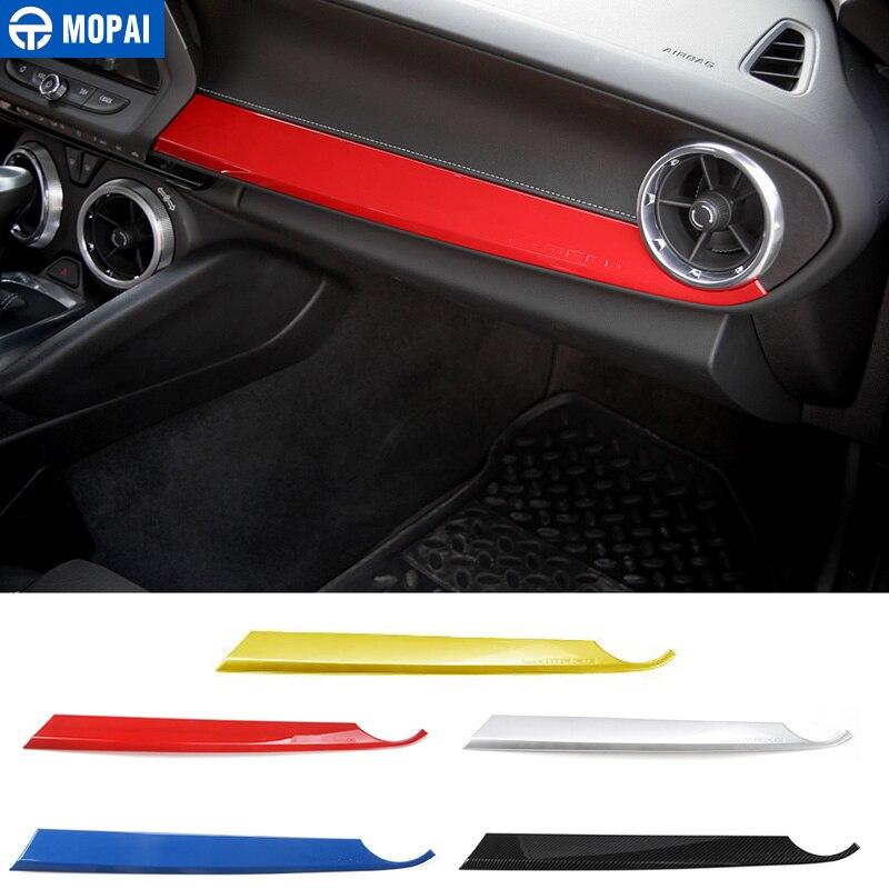 MOPAI Car Interior Front Passenger Seat Copilot Panel Decoration Stickers for Chevrolet Camaro 2017 Up Car