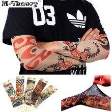 M-theory 3D Tattoos Arm Sleeve Elastic Stockings Leggings Temporary Tatuagem Body Makeup 3d Henna Flash Tatoos Arts Tatto