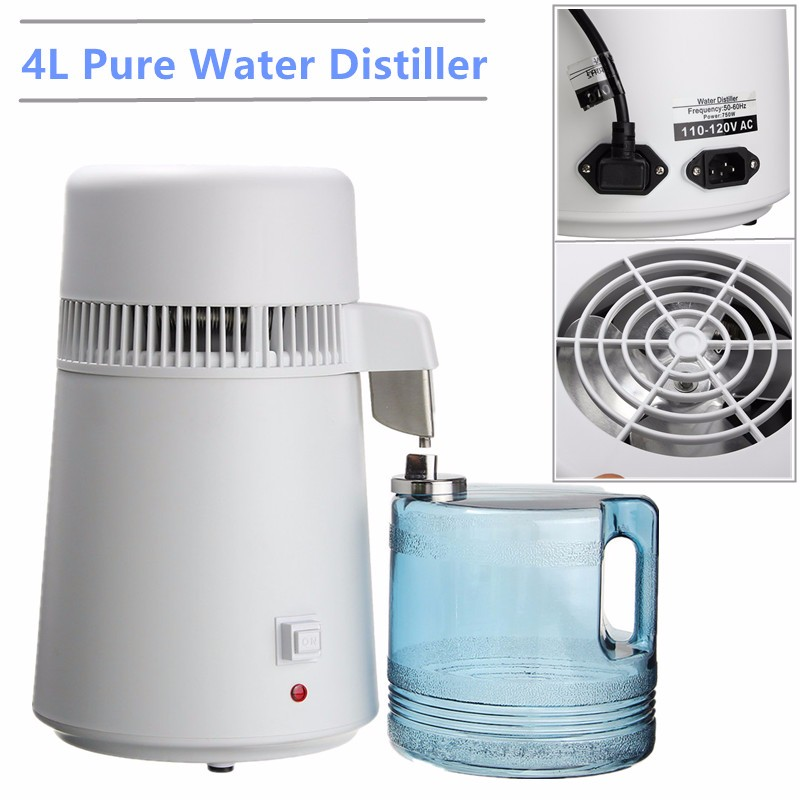 Dental 4L Distilled Water Distiller Pure Water Purifier Filter Distillation Purifier Stainless Steel Machine Medical Home use dmwd household water distilled machine pure water distiller filter electric distillation purifier stainless steel 110v 220v 4l