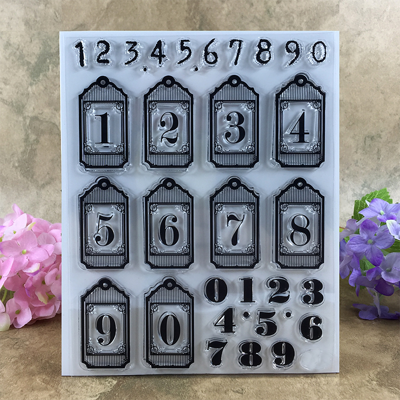 Various 0-9 Numbers Scrapbook DIY photo cards account rubber stamp clear stamp transparent stamp  14*18 CM scrapbook diy photo cards account rubber stamp clear stamp finished transparent chapter wall decoration 15 18