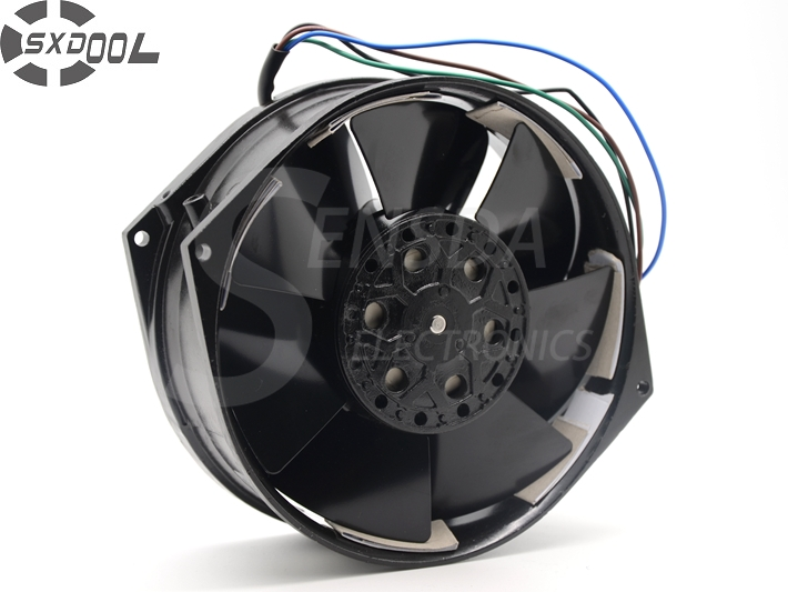 SXDOOL 5E-DVB-1 100~120/200~230VAC 50/60Hz AC Cooling Fan 150MM x 170MM x 55MM metal frame impeller tg17055ha2bl ac 220v 0 3a 46w 50 60hz 3100rpm double ball bearing 17255 17cm 172 150 55mm 2 wires silent cooling fan