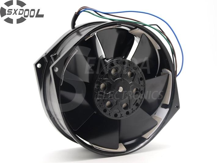SXDOOL 5E-DVB-1 100~120/200~230VAC 50/60Hz AC Cooling Fan 150MM X 170MM X 55MM Metal Frame Impeller