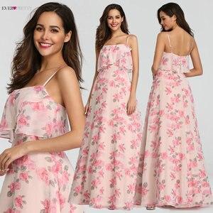 Image 2 - 2020 חדש שושבינה שמלות אי פעם די EP07242 נשים ארוך שיפון מודפס חוף שמלות אונליין חתונת אורח המפלגה שמלות