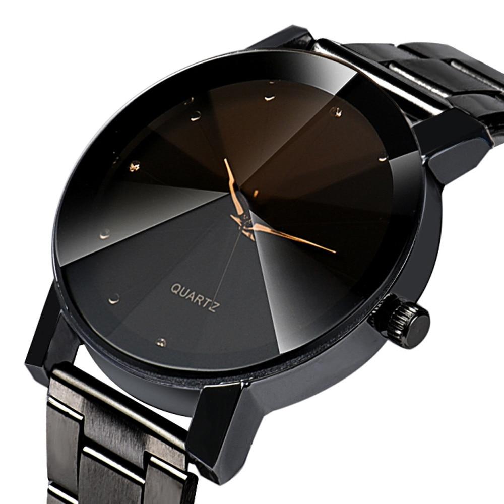Vrouwen & Mannen Rvs Analoge Quartz Horloge Quartz Horloges Crystal Relogio Masculino Feminino klok Relojes Hombre