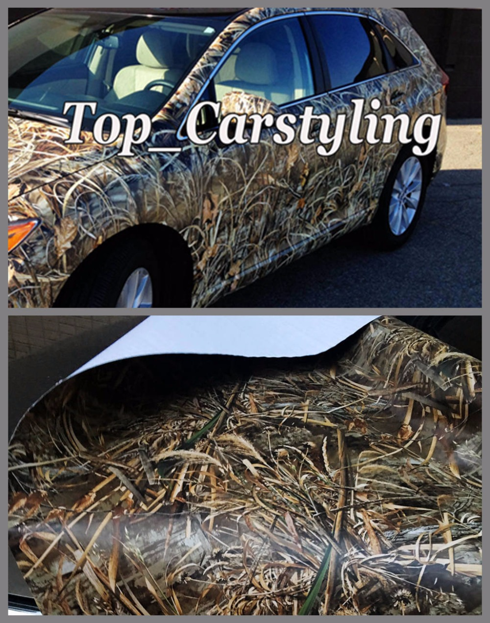 Matte Grass Shadow Camo Vinyl Wrap Roll For Truck Jeep Suv
