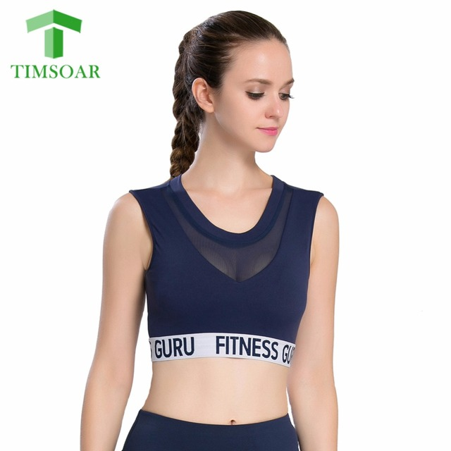 d9e9ffa55a TIMSOAR Fitness Mesh Yoga Bra Breathable Workout Gym Sport Top Transparent  Padded Quick Dry Women Jogging Underwear Running Bra