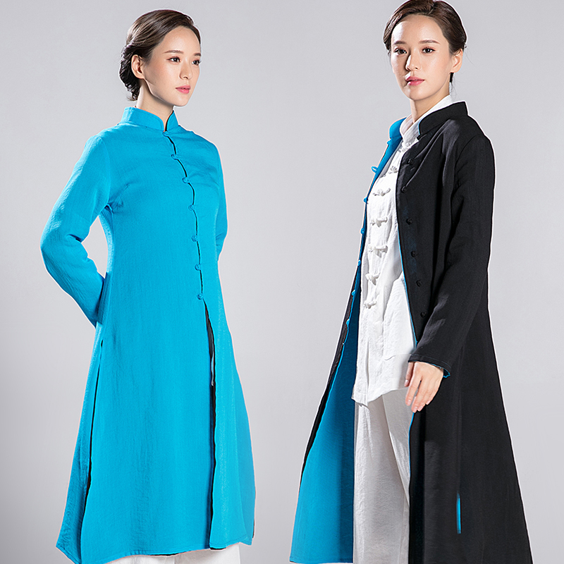 2018   New Product Reversible Overcoat Tai Chi Clothes Taoist Priest Robe Kung Fu Clothes