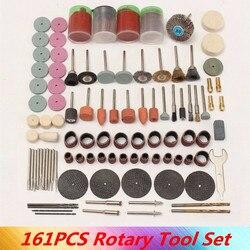 161 sztuk/zestaw ścierne narzędzie do polerowania akcesoria grawerowanie elektryczne mikro wiertarka obrotowy władza szlifowania wielofunkcyjny zestaw narzędzi