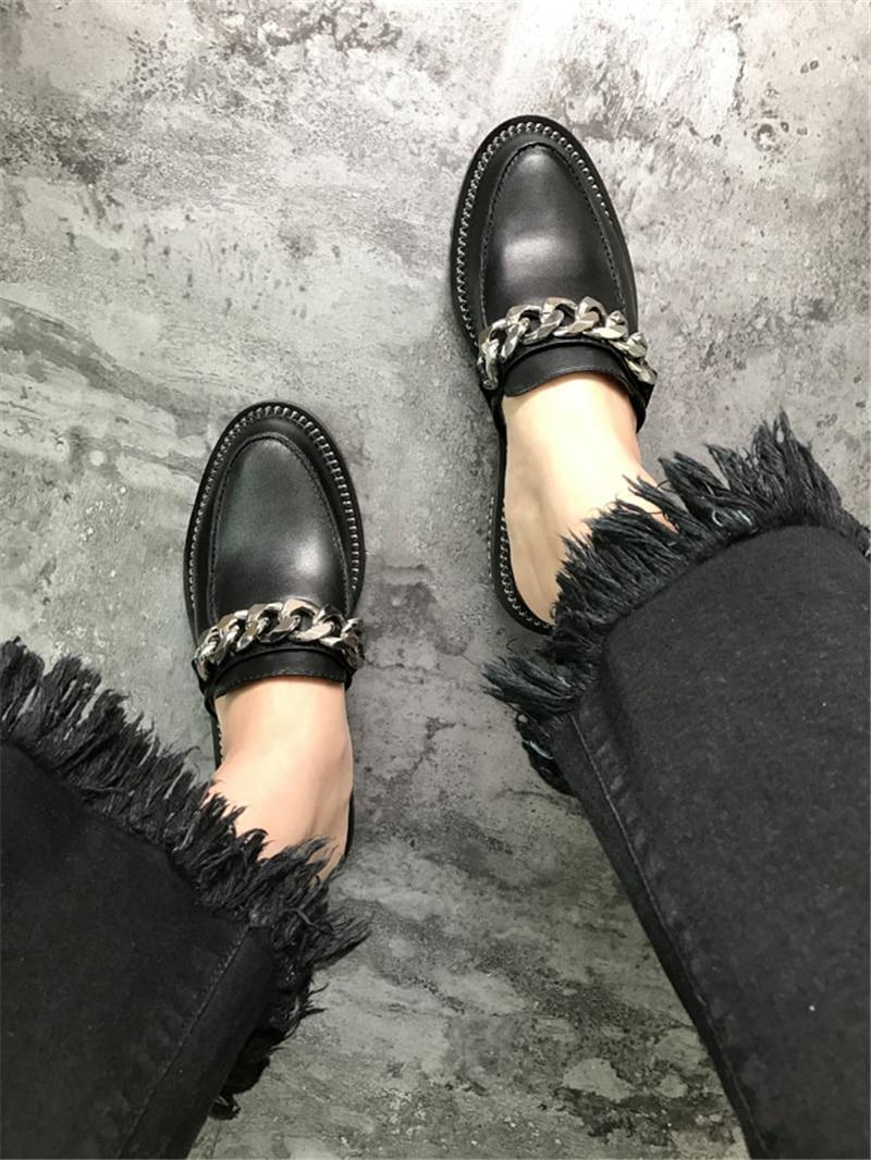 Sandalen Kette Leder Echtes Wohnungen Frau Show Sommer Zapatos 40 Casual Hausschuhe Metallic As Strand Damen Schuhe Frauen as Gladiator Decor Show 8dwdxC