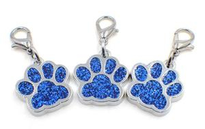 Image 5 - 50pcs/lot Colors Bling bear dog paw print with lobster clasp diy hang pendant charms fit for keychains jewelrys